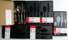 Ettore Sottsass for Alessi model Nuovo Milano – 6 people designer cutlery sets (24 pieces) new in boxes