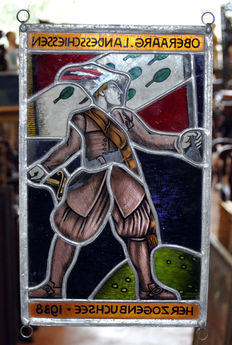 Leaded coloured stained glass - Herzogenbuchsee