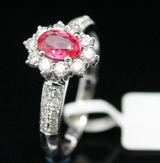 18K Diamond and Pink Spinel Ring, 1.00ct. - NO RESERVE