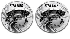 Australia - 2 x 1 $ - Star Trek Enterprise 2 pieces, a 1 oz 999 silver silver coin Perth Mint NCC-1701