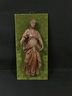Wood carving - Moses and the Tables of the Law  - French School - 18th century