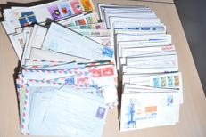 Netherlands Overseas Territories - Batch of letters, airmail, covers and FDCs.