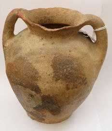 Jordan Valley - Middle East - pottery jar - 18 x 14 cm