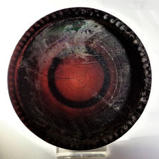 Roman dark purple glass bowl - diam. 108 mm