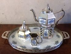 Tea service / coffee set with tray, six  pieces Pako Rhenen