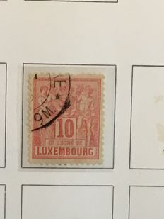 Luxemburg - Batch in DAVO Album, stockbook and on many pages