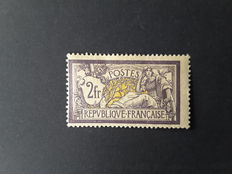France 1900 – Type Merson 2 francs violet and yellow - Yvert no. 122