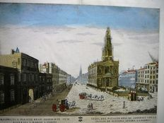 London - Optics print - View on the Royal Palace Sommerset - Clayton - 1760
