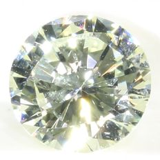 Certified brilliant cut diamond 0.38 ct, L - SI1
