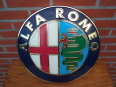 Small (43 cm) - Alfa Romeo light box - sign / advertising sign - from the 80s/90s