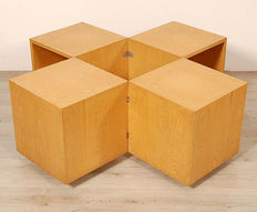 Side table – Mobile container – Designer – From the 1970s