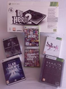 Xbox 360 - 4 Limited & Special Collector's Edition's (Alan Wake, Halo Reach, Final Fantasy XIII-2 & Modern Warfare 2) + GTA IV & DJ Hero + controller