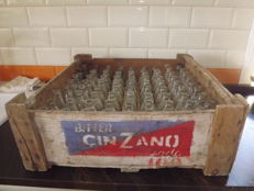 Bitter Cinzano,Crate Box and bottles