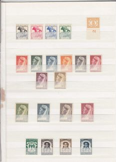 Suriname 1935/1960 - Collection on stock sheets