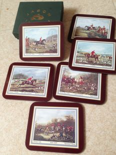 6 bar coasters, old collection, theme: horses
