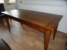 Dining table in fruit wood - 8 people - France - ca. 1870