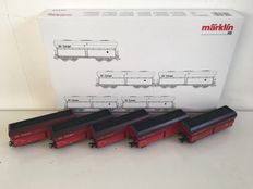Märklin H0 - 46249 - Set of large volume carriages with coal cargo type Fals 175 of the DB