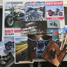 Lot of 6 Harley Davidson books - 5xHC - 1xSC + Folders and price lists 1992/2005