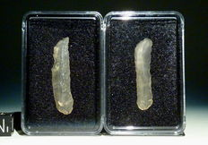 Neolithic blades (2) made from Libyan Desert Glass