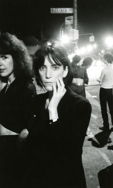 David Godlis - Patti Smith Outside CBGBs - New York - 1976
