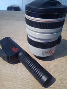 Lot: Canon VL wide zoom lens macro CL 5-15 mm & hifi stereo microphone
