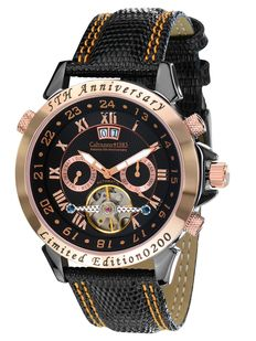"Calvaneo 1583 ""5th Anniversary Blacknight Rosegold"" men's wristwatch - New"