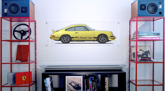 Painting on plexiglass - Porsche 2.7 RS