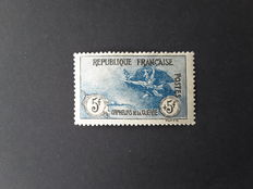 France 1917/1918 - In aid of war orphans 5 francs + 5 francs black and blue - Yvert no.155