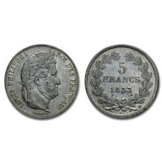 "France - 5 Francs ""Louis Philip"" 1833, Mint of La Rochelle - Silver"