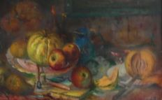 Karel Wouters (1892-1965) -  Stilleven met fruit
