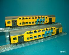 Märklin H0 - from set 43598-2 double-decker trains of the NS, with lights and figurines