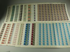 The Netherlands 1977/1978 – Complete sheets of 100 and 50 stamps