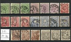 German. Reich 1875 /89 - Michel 31 /52 in various colours