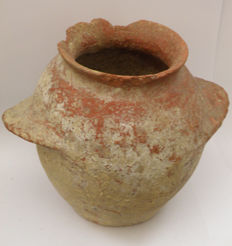 Jordan Valley - Middle East - pottery jar - 13 x 16 cm