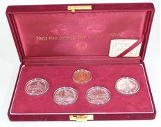 Korea – Proof Coin set 2002 'Fifa World Cup Korea Japan' (5 coins) – gold and silver