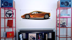 Painting on plexiglass - McLaren F1