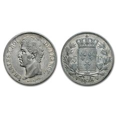 France, CARLO X, 5 Francs, 1828 edition, Mint of Lille, Silver