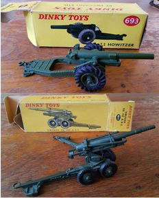 Dinky Toys-France - Scale 1/48 - Obusier de 155 A.B.S. No.80e and 7.2 Howitzer No.793