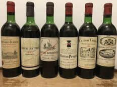 Bordeaux  Mix Grand Cru Classé  1966,  1967,  1968,  2 x 1969  &  1970  - Totaal 6 Flessen