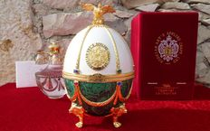 "Fabergé Egg Collector Imperial (6 kg / 29 cm) - Collection ""Imperial Vodka"" - rhinestone - Crystal Pure - Enamel - plated in gold - numbered"
