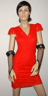Karen Millen - Fantastic lace dress with lining, comes with free gala gloves. No reserve price.