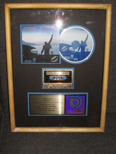 "Original Presented to Queen Gold Record award Disc  ""Made in Heaven"" RIAA"