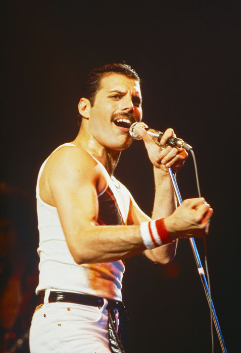 Queen, Freddie Mercury, seven big colour photographs, live 1982, Hot Space-Tour, USA