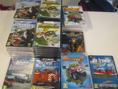 43 original most sealed pc games.Bad piggies 15x,Recovery search and rescue 15x,Farming giant 4x,farming giant gold 5x,airpost simulator,vis trauler,etc