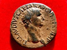 Roman Empire - Claudius I (41-54 AD) bronze sestertius (26,96 g, 35 mm), minted in Rome between 41-42 A.D. SPES AVGVSTA.
