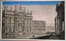 Vue d'optique - Perspective view - Roma - Basilica of St John Lateran - ITALY - 18th century
