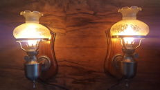 Medieval wall lamps-second half 20th century