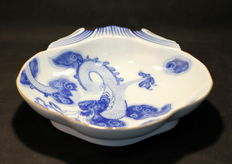 Porcelain Vintage Dish, Made Exclusively for Tiffany & Co By Mottahedeh, Portugal