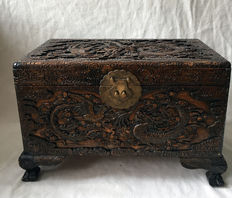 Decorated wooden box – China – Mid 20th century