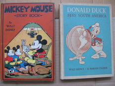 Walt Disney Mickey Mouse Story Book - hc + Donald Duck Sees South America - hc - 1st edition (1931/1945)